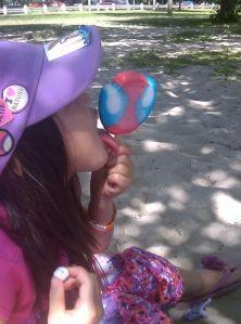 Luella with Ice Cream